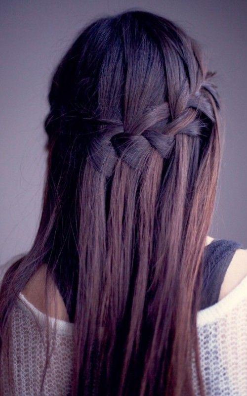 Waterfall Braids for Straight Hair 2016