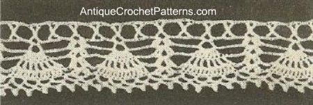 Crochet Towel Edging No. 14  Free Crochet Edging Pattern