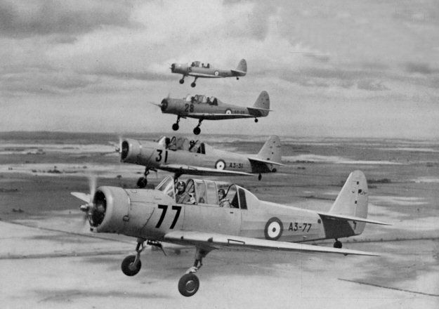RAAF CAC CA-6 Wackett trainers. This was the first in-house designed aircraft for CAC and was named in honour of its designer, Lawrence Wackett. The first of 2 prototypes flew in October 1939. The first of 200 production CA-6 Wackett trainers fitted with 175hp Warner Scarab radial engines was flown on February 6th, 1941 and they started to enter RAAF service in March 1941 to supplement de Havilland Tiger Moth biplane basic trainers.