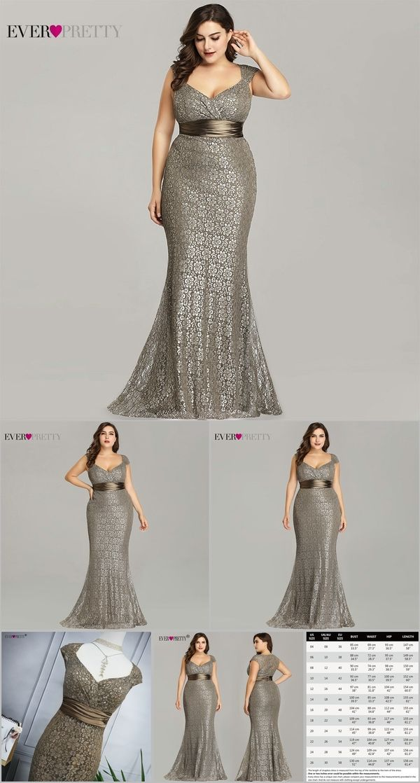 7960ca7b566cb Plus Size Evening Dresses 2019 Ever Pretty EP08798CF Elegant Mermaid Lace  Sleeveless Party Gowns Vintage Sexy Robe De Soiree