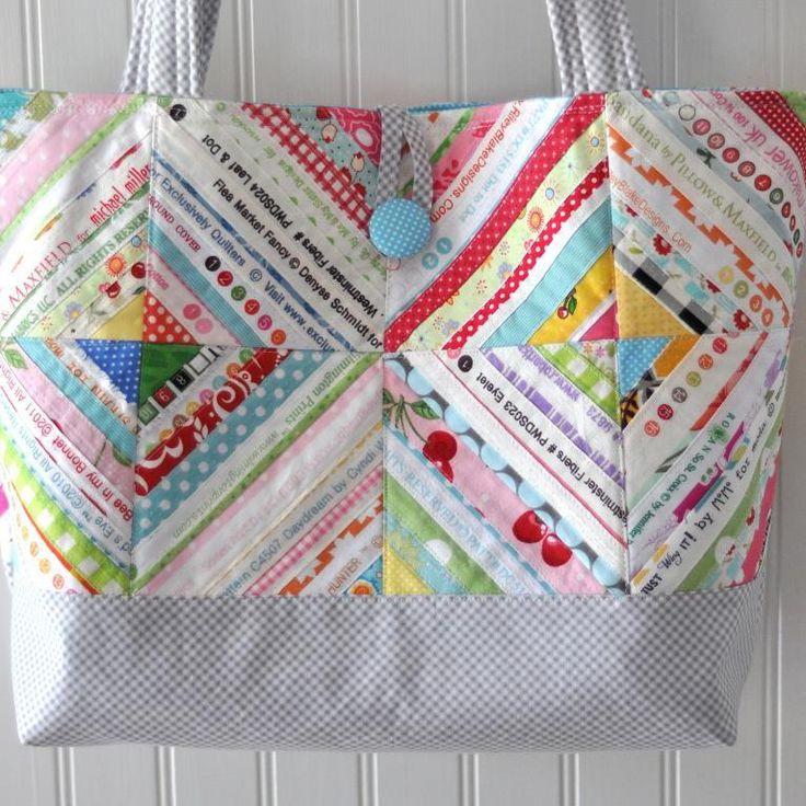 Quilting Bag Designs : 25+ basta Quilted bag ideerna pa Pinterest Gor-det-sjalv-vaskor, Lapptacke och Vaskmonster