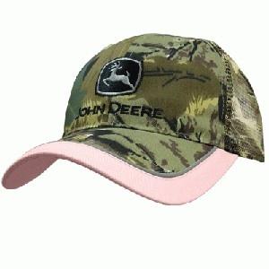 John Deere Women's Pink Camo Hat.  Best of both worlds.  Camo and John deere.