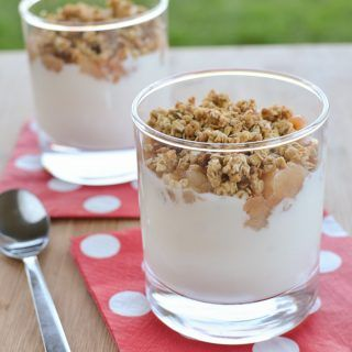 Pear Crumble Yogurt Parfait