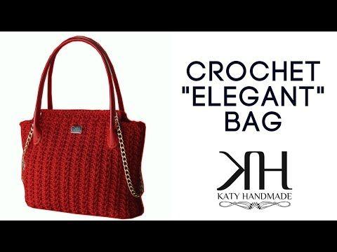 Versão destros : Bolsa chique em crochê ( 1ª parte ) # Elisa Crochê - YouTube