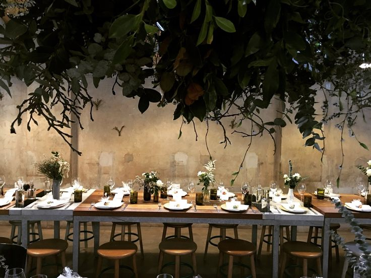 wedding flowers and greenery installation by  T H E  V I S U A L S