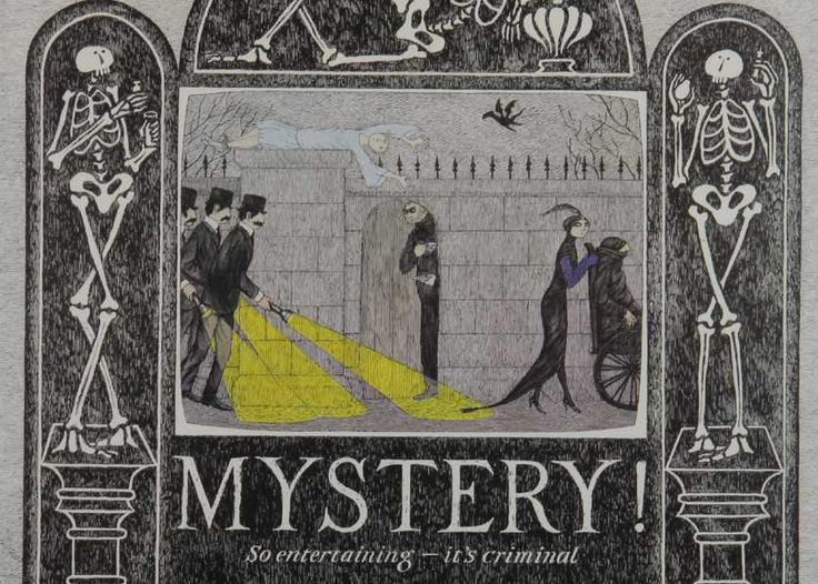 Edward Gorey poster for PBS Mystery