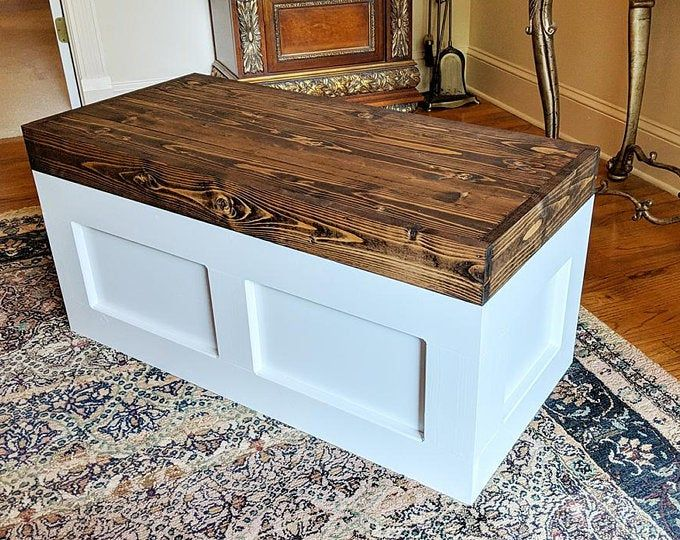 Large Toy Chest Toy Box Storage Trunk Wooden Trunk Hope Etsy Wooden Toy Chest Wood Toy Box Wooden Toy Boxes