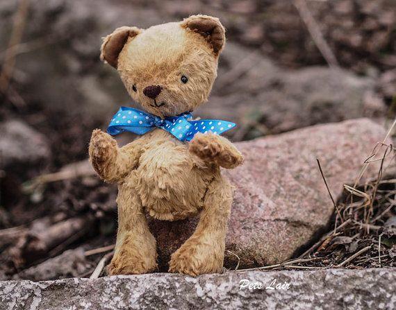 OOAK медведь Teddy желтый медвежёнок мишка плюшевый от PetsLair