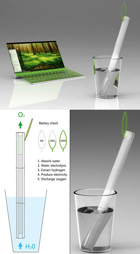 The Plantbook: A Laptop That Draws Its Power from Water - TechEBlog