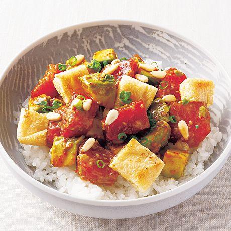 まぐろとアボカドのポキ丼 | 外処佳絵さんのどんぶりの料理レシピ | プロの簡単料理レシピはレタスクラブニュース