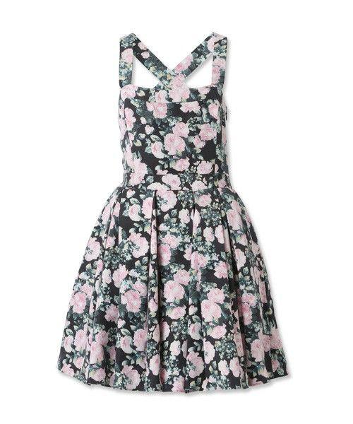 Reefur   ヴィンテージフラワー バッククロスドレス(ワンピース)