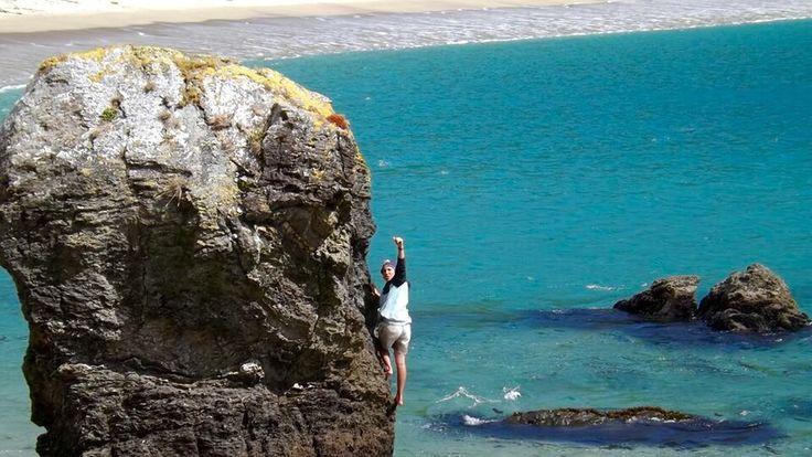 Caleta condor subiendo la gran roca #Rock