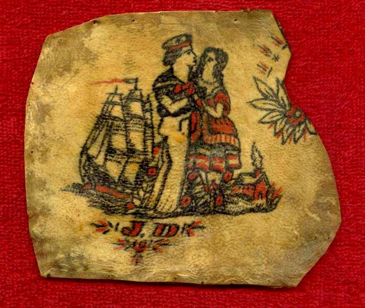 Tattooed skin taken off a sailor by indians sometime in for 19th century tattoos