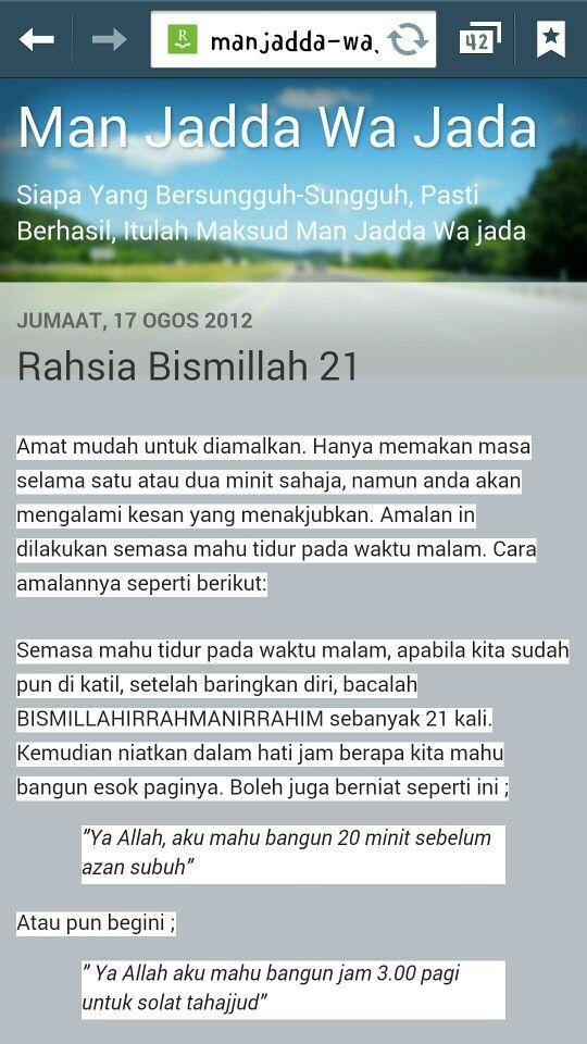 Rahsia Bismillah 21 *link in comment*