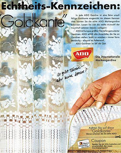 ADO Gardine mit der Goldkante