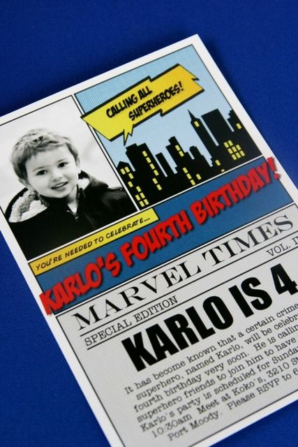 Vintage Superhero Birthday Party Ideas | Photo 3 of 43 | Catch My Party