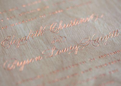Rose Gold Foil Stamps