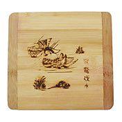 Mandarijn Eend Bamboo Coaster – EUR € 5.51