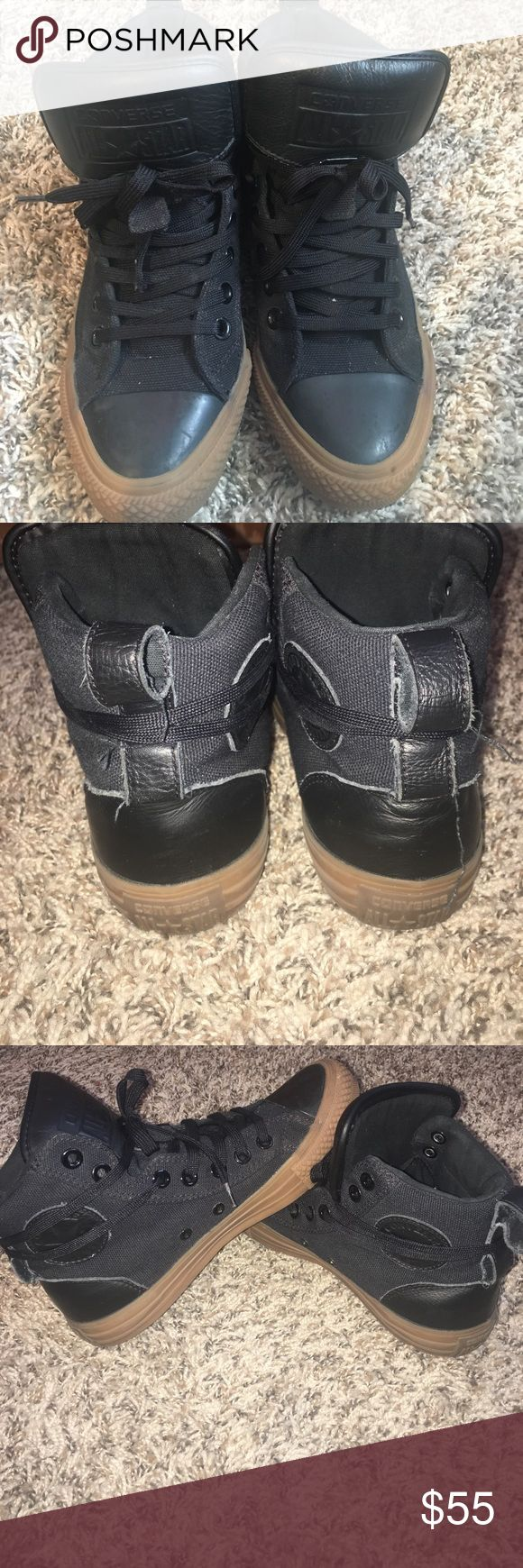 Converse High top Unisex gum bottom high tops. Gum bottom in perfect condition. Like new Shoes Sneakers