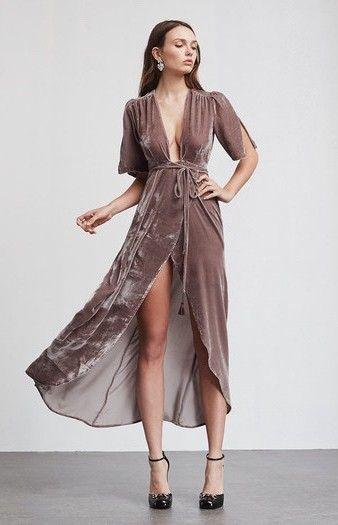 Bordeaux Dress // Reformation. Love the velvet material//