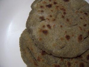 Bajri Chi Bhakri (Bajre Ki Roti) Indian Bread Made of Pearl Millet Flour