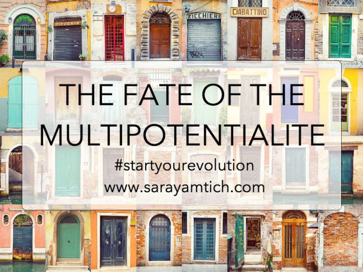 The Fate of the Multipotentialite - Sara Yamtich Coaching