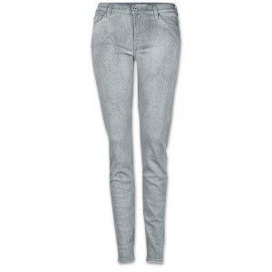 7 for all mankind The Skinny Damen Jeans hellgrau