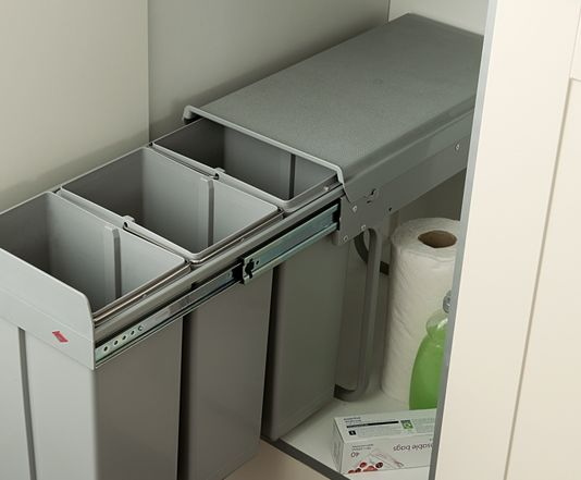 Complete your kitchen with a range of integrated Kitchen Bins from Magnet Trade. Browse online for our range of pull out, swing and slimline waste bins.