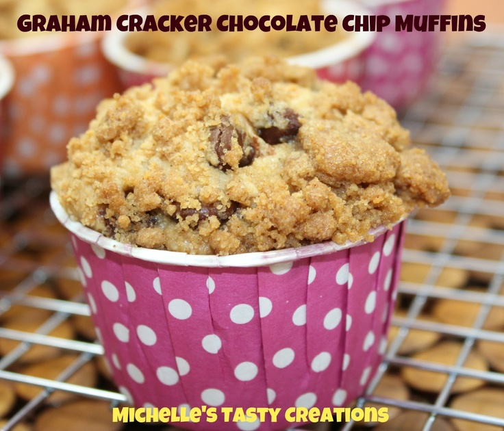 Michelle's Tasty Creations and Crafty Ideas: Graham Cracker Chocolate Chip Muffins