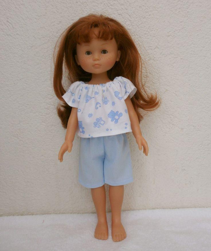 Habits Les Chéries - Pyjama court bleu motifs jouets : Jeux, jouets par mcl-poupees