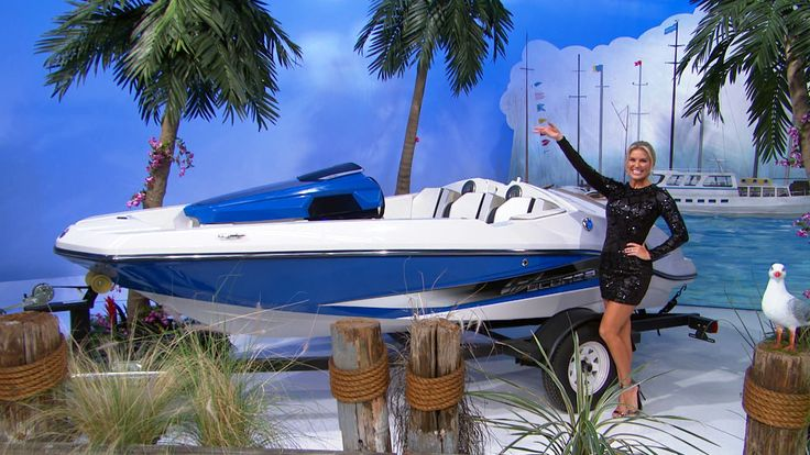 This 16 foot scarab 165 recreational jet boat seats 5 and is equipped with a rotax 150 horse power engine, stereo system, and sun shade cover. Trailer included. #PriceIsRight #JetBoat