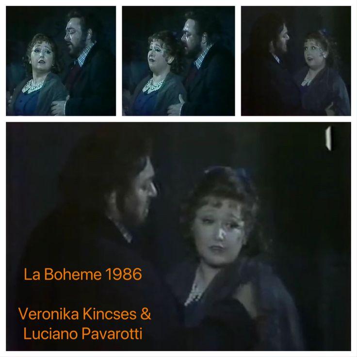 Veronika Kincses & Luciano Pavarotti 1986. Budapest, Puccini: Bohémélet című operájában