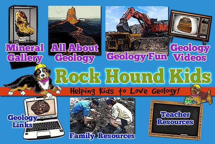 Rock Hound Kids - Rocks, Minerals, Fossils for Kids, Children, Study , kits, gallery of minerals, homeschool education & teacher supplies and much more!