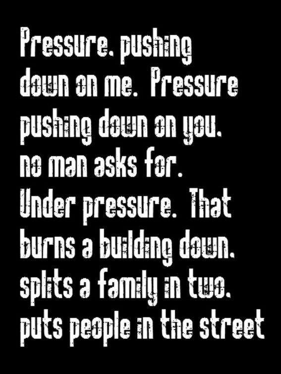 Queen & David Bowie - Under Pressure - song lyrics, song quotes, music lyrics, music quotes, songs