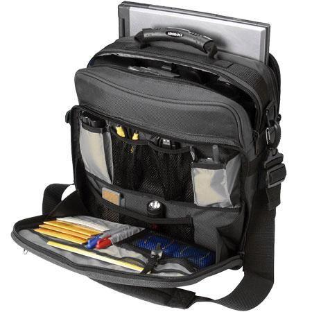 "Adorama Commander Model Camera & Notebook System Bag, Gray, Water-Resistant Nylon, for 15"" Diagonal Notebooks.   Electronics Deals"
