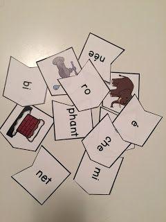 Puzzles - mots à 3 syllabes