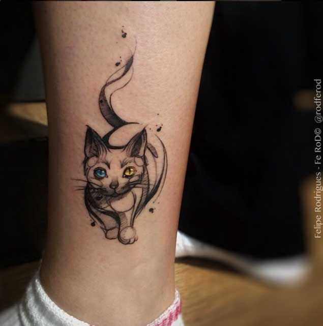 35 Unbelievable Cat Tattoos That Are Guaranteed To Leave You Thoroughly…