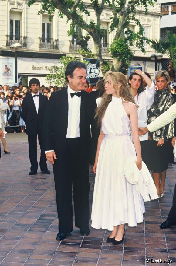 Guy Béart et Emmanuelle Béart en 1985.