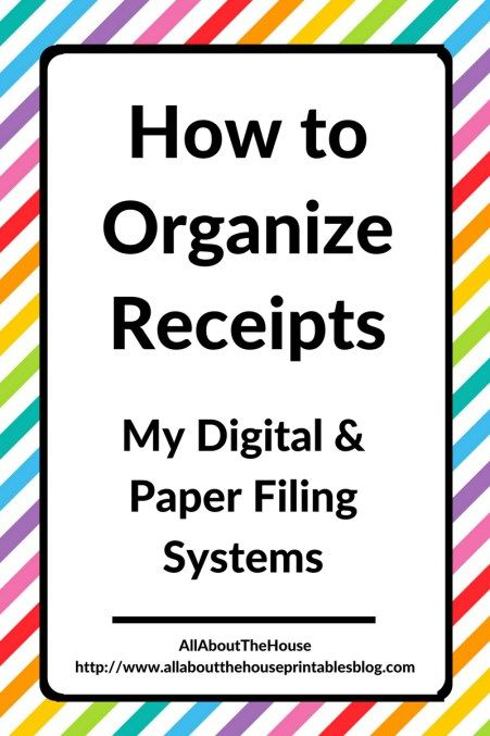 Salmon Receipt Best  Organize Receipts Ideas Only On Pinterest  Organizing  Wp-invoice Pdf with Apple Mail Read Receipt Word How To Organize Receipts For Tax Time Digital And Paper Filing Systems Purchase Receipt Word