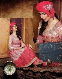Resham Zari, Embroidery & Diamond work In Pink Color Salwar Suit