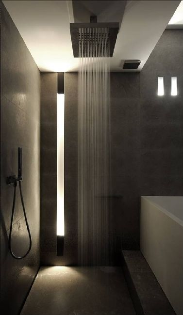bathroom design modern interiors indoor lighting dolma from alno lighting - Ultra Modern Bathroom Designs