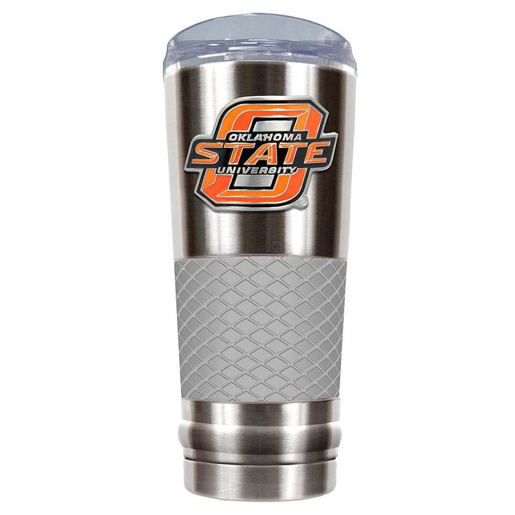 Oklahoma State Cowboys 24-Ounce Draft Stainless Steel Tumbler, Grey