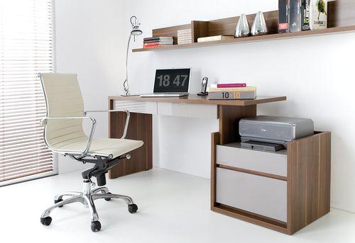 Fotel Obracany z Niskim Oparciem z Jasnej Skóry - Krzesła i Fotele - Typy Mebli - Meble VOX - Meble VOX
