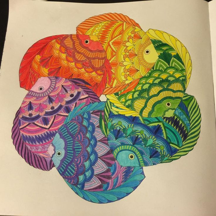 Rainbow Fish Adultcoloring Crayola Coloredpencils Tropicalworld FishColoring BooksColouringAnimal
