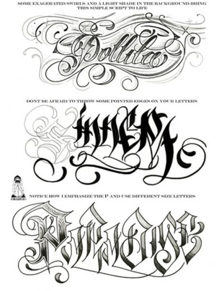 Gangster Tattoos Gangster Tattoo Flash Sheet Page 3 1