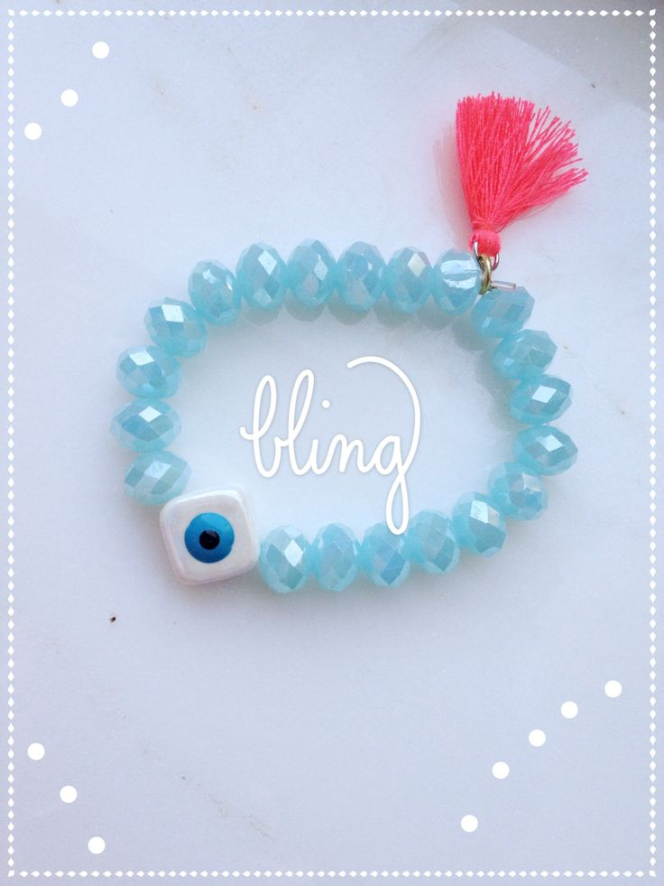 Tassel bracelet/Evil Eye bracelet/ Crystal bracelet by Calliopesboutique on Etsy