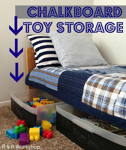 chalkboard toy storage