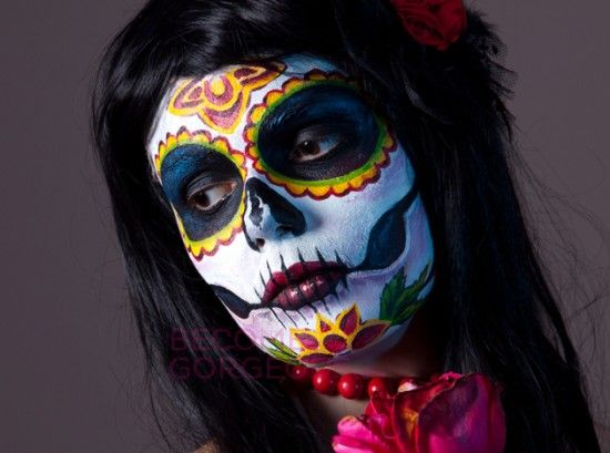 Caras pintadas de calaveras mexicanas imagui halloween for Caras pintadas para halloween