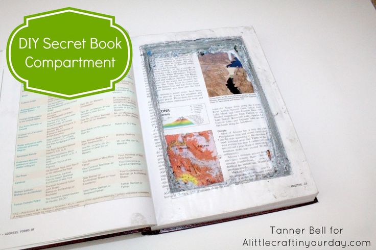 This DIY Secret Book Compartment is the perfect DIY for teens! It's something anyone can make and is the perfect Recycle craft.