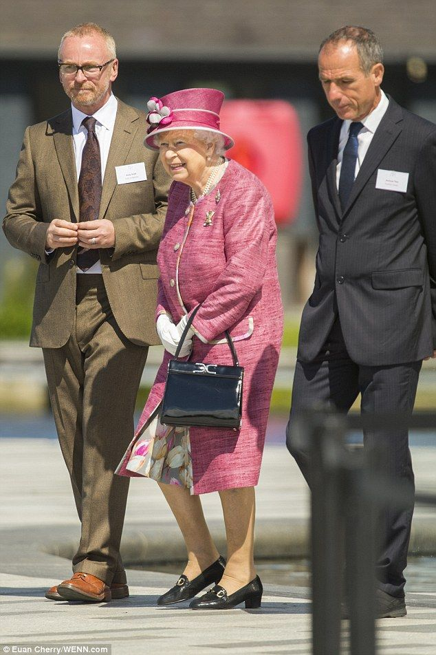 Guest of honour: Today, Her Majesty stepped out to officially open the Queen Elizabeth II Canal at the Helix in Grangemouth, Falkirk - named in her honour
